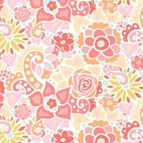 Coral Summer Floral