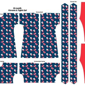 12 month kimono and belt