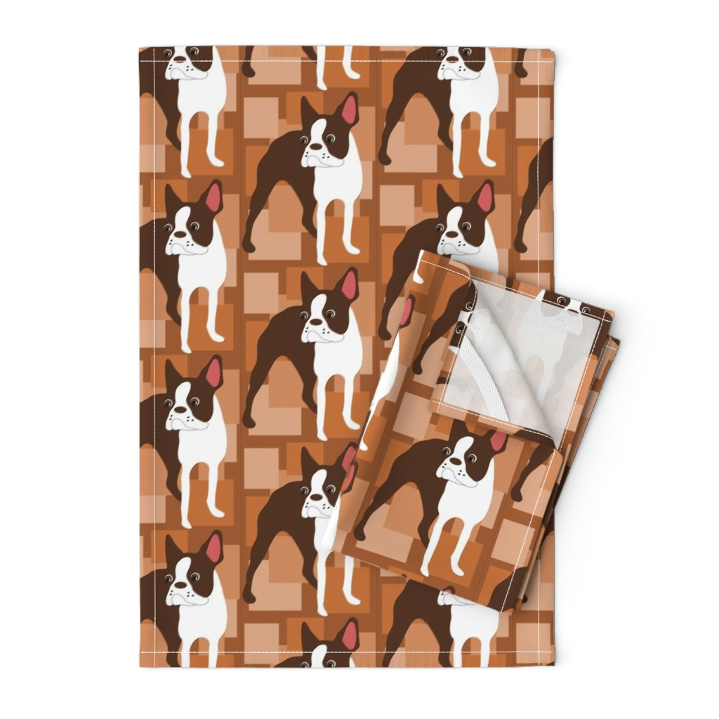 Orpington Tea Towels featuring Boston Cocoa by missyq