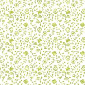 Field of flowers - green