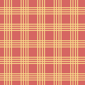 Ferris Wheel Plaid Burnt Orange