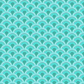 Scales in Teal