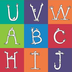 """monster alphabet 6"""" blocks"""