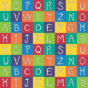 "1"" monster alphabet charm squares"