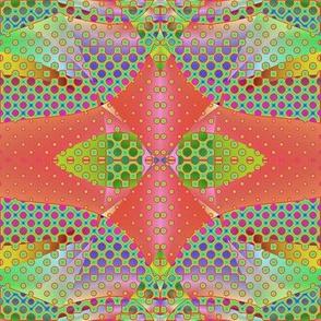 Wild and Zany Qbist Circles--Mirrored