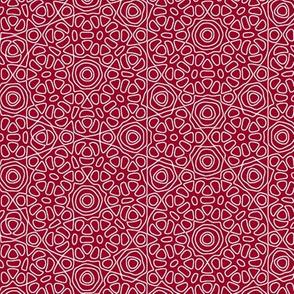 Crimson Christmas lace