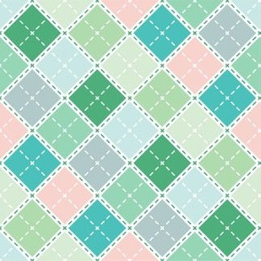 Retro Teal Plaid