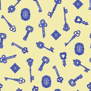 Keys Yellow Blue Blondie Lockes Cosplay