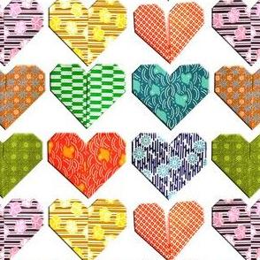 February origami hearts