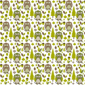 Green & Brown Owls