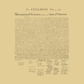 "17x20"" Declaration of Independence, antique"