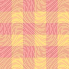 "3"" sherbet pink gingham swirl"