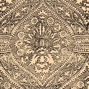 15th / 16th Century Spanish Medaillon Blockprint