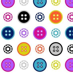 Button and Bobbin Dot White