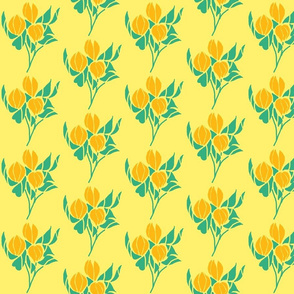 Yellow Tulips on Butter Cream