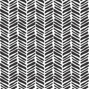 painted herringbone black