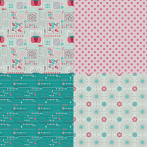 Sewing Notions YARD with Four prints (Lovely)
