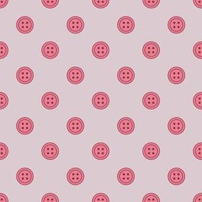 Button Dots Berry on Lavender (Lovely)