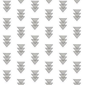 grey opaque triangles