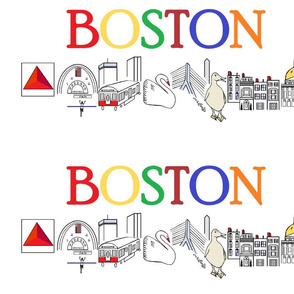 "BOSTON simple and sweet landmarks for 54"" fabrics"