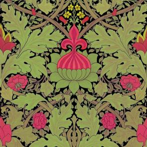 William Morris ~ St. JamesDamask ~ Fuschia