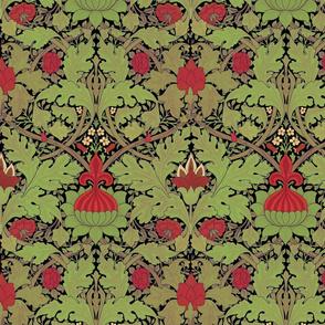 William Morris ~ St. JamesDamask ~ Christmas Night