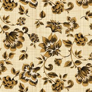 Fleurs de Provence ~ Gilt on Hameau ~ Linen Luxe