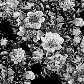 Mid Century Modern ~ Flower Cocktail ~ Midnight