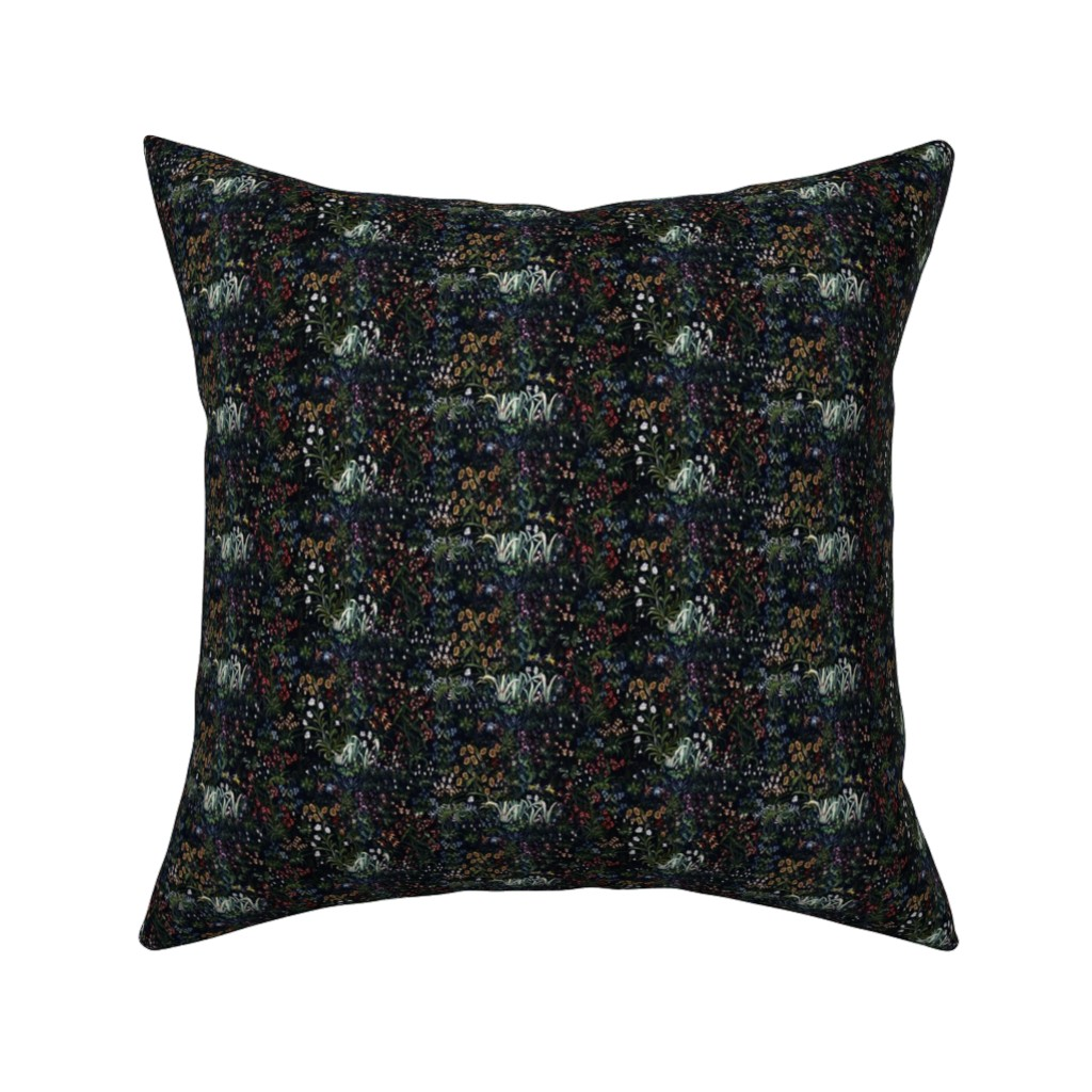 Catalan Throw Pillow featuring Millefleur by peacoquettedesigns
