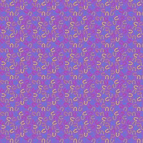 horse shoes purple