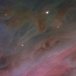 HD Orion Nebula Pillars of Gas