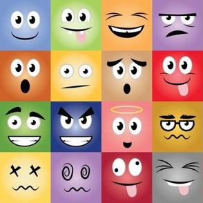 Cartoon Face Expressions - 8 in