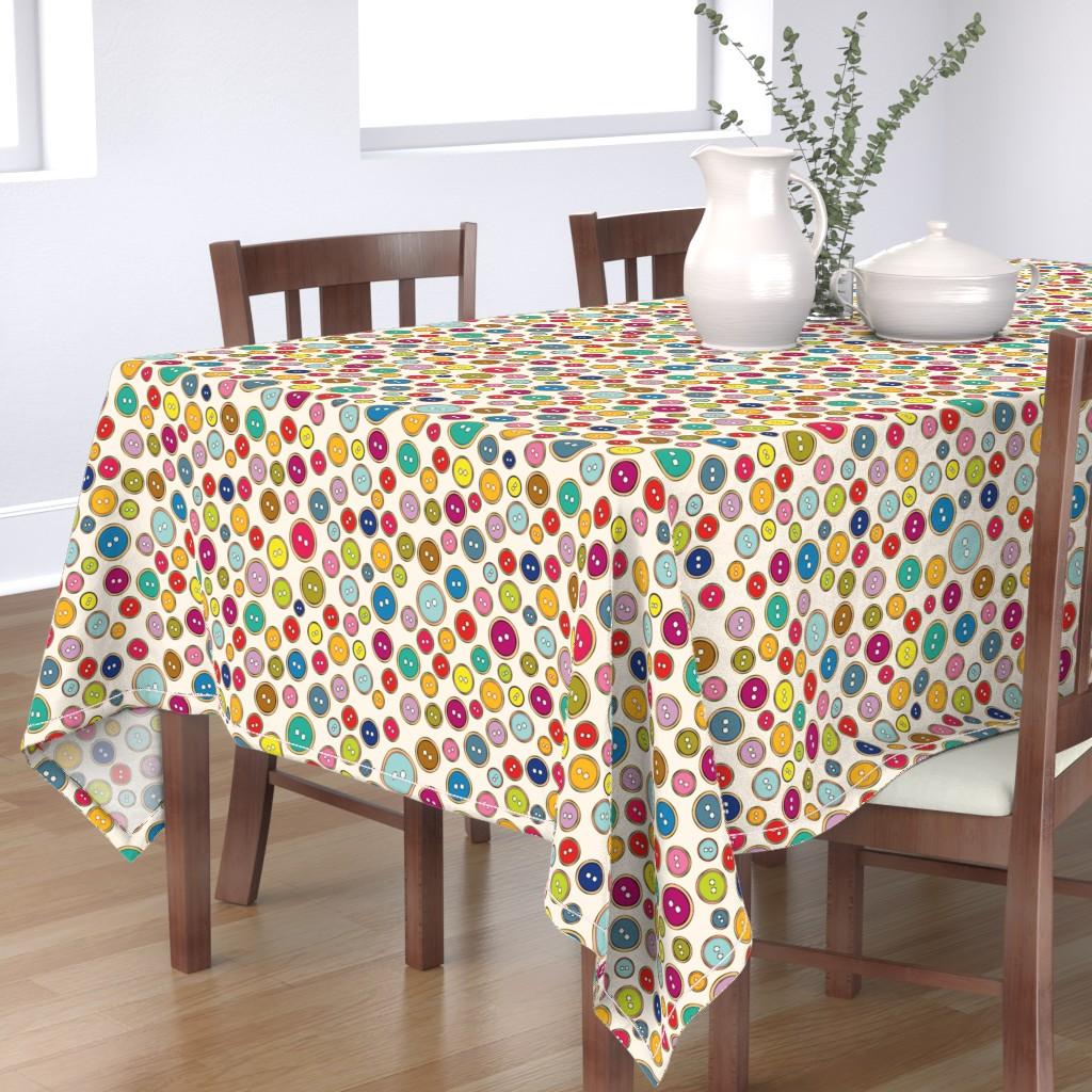 Bantam Rectangular Tablecloth featuring Buttons by leventetladiscorde