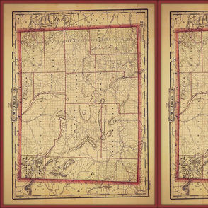 wyoming map, small