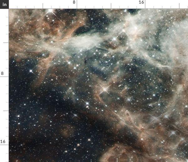 Telas Por Metros Hubble Cosmos Noche Espacio Estrellas Universo