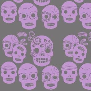 Purple Sugar Skulls