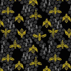 Honeycomb - Black by Andrea Lauren