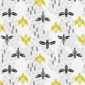 Honeycomb - Light Grey by Andrea Lauren