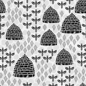 Honey Hives - Light Grey by Andrea Lauren