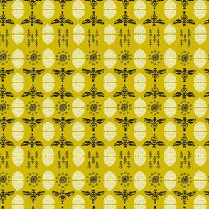 Honey Bees & Hives (Golden) by Andrea Lauren