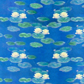 Monet: Nympheas Effet du Soir Waterlily Painting repeat
