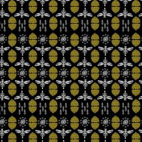 Honey Bees & Hives (Black) by Andrea Lauren