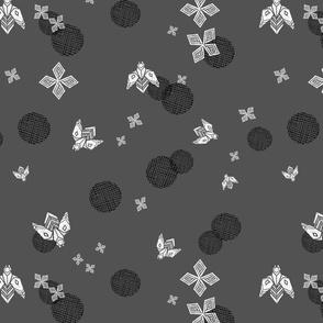 Bees in Flight - Charcoal by Andriea Lauren