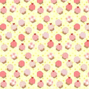 Small Pink Cupcakes Yellow