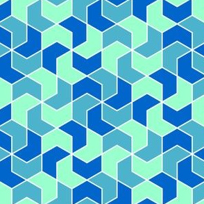 03286235 : chevron 6 x3 X : cool blues