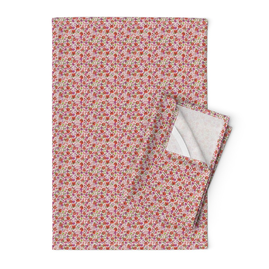 Orpington Tea Towels featuring Poppy Floral by primsociety