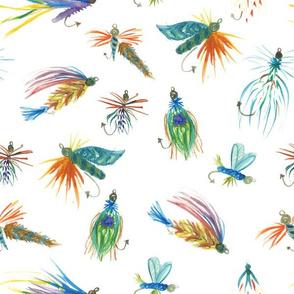 Watercolor Flies
