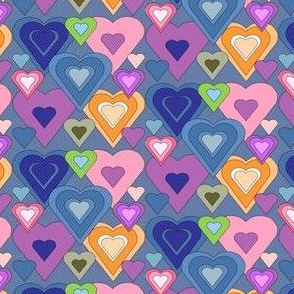 Hearts Collage Fabric
