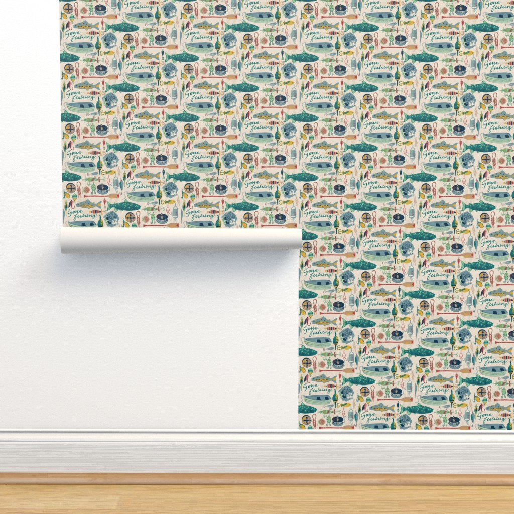 Isobar Durable Wallpaper featuring Gone Fishing by ohn_mar_win