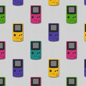 Paper Cut-out Gameboy Colors (Small Scale)
